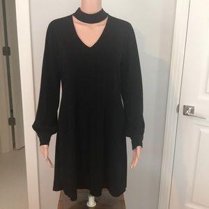 Ladies M Long Sleeve Black Dress